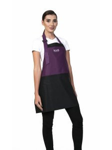 Фартук Kodi фиолетовый с черными вставками, белый логотип (короткий)
