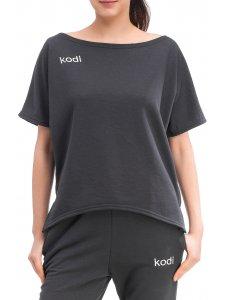 Футболка свободная утепленная с лого Kodi professional (цвет темно-серый, размер M)