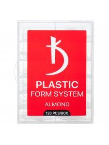 Верхние формы для моделирования ногтей  Almond, 120 шт/уп