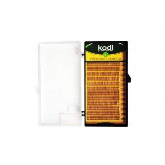 Фото - Брови Straight Curl (прямой завиток), цвет натурально-коричневый 0,10 (12 рядов: 4-6, 5-6) от KODI PROFESSIONAL