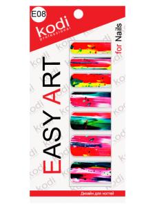 Фото - Слайдеры для ногтей (фотодизайн) Easy Art E08 от KODI PROFESSIONAL