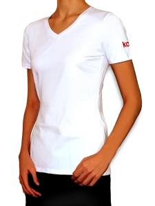 Фирменная футболка Kodi (цвет логотипа: красный). Размер L