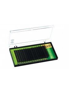 Ресницы темно-бордовые B 0.15 (16 рядов: 10/12/14/16 mm), упаковка Green