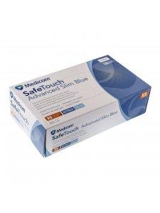 Перчатки нитриловые неопудренные Medicom (размер М, голубые)