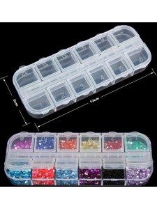 Пластиковый контейнер для страз на 12 ячеек