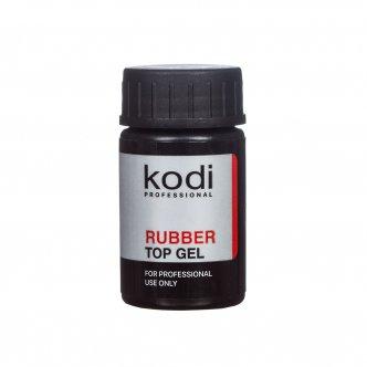 Фото - Rubber Top - Каучуковое верхнее покрытие (топ/финиш) для гель-лака, 14 мл. от KODI PROFESSIONAL