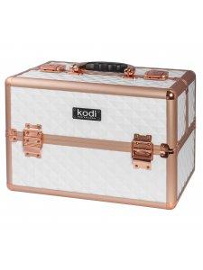 Кейс для косметики №44 (белый-розовое золото)