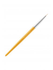 Кисть для росписи в тубусе №00/3 (нейлон; ручка: металл, акрил, цвет: ЗОЛОТО)