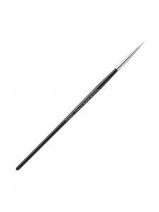 Кисть для росписи в тубусе №1 (нейлон, деревянная черная ручка)