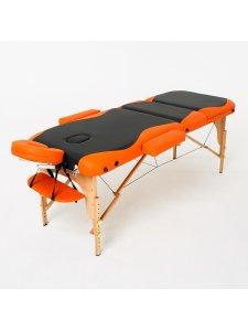 Складной массажный стол Titan (черно-оранжевый)