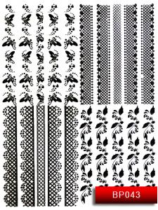 Наклейки для ногтей (стикеры) Nail Art Stickers BP 043 (черный)