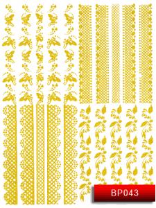 Наклейки для ногтей (стикеры) Nail Art Stickers BP 043 (золото)