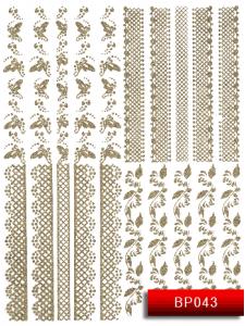 Наклейки для ногтей (стикеры) Nail Art Stickers BP 043 (серебро)
