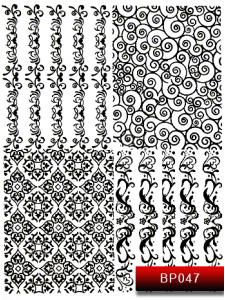 Наклейки для ногтей (стикеры) Nail Art Stickers BP 047 (черный)