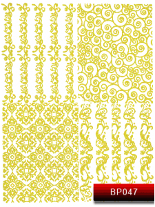 Наклейки для ногтей (стикеры) Nail Art Stickers BP 047 (золото)