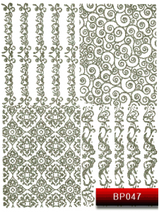 Наклейки для ногтей (стикеры) Nail Art Stickers BP 047 (серебро)