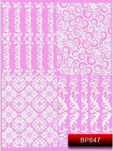 Наклейки для ногтей (стикеры) Nail Art Stickers BP 047 (белый)