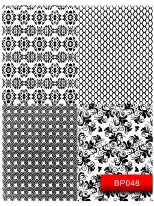 Наклейки для ногтей (стикеры) Nail Art Stickers BP048 Black