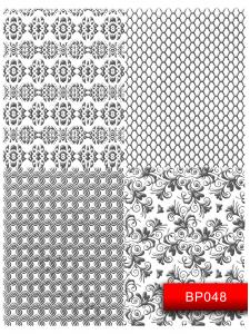 Наклейки для ногтей (стикеры) Nail Art Stickers BP048 Silver