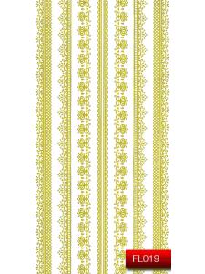 Наклейки для ногтей (стикеры) Nail Art Stickers FL 019 (золото)