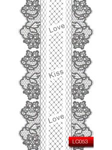 Наклейки для ногтей (стикеры) Nail Art Stickers LC 053 (серебро)