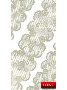 Наклейки для ногтей (стикеры) Nail Art Stickers LC 058 (серебро)