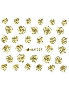 Наклейки для ногтей (стикеры) Nail Art Stickers 037 Gold