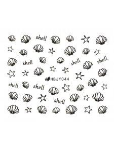 Наклейки для ногтей (стикеры) Nail Art Stickers 044 Black