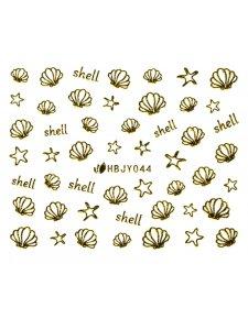 Наклейки для ногтей (стикеры) Nail Art Stickers 044 Gold