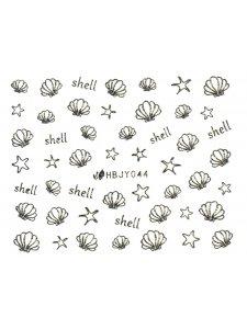 Наклейки для ногтей (стикеры) Nail Art Stickers 044 Silver