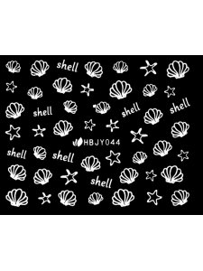 Наклейки для ногтей (стикеры) Nail Art Stickers 044 White