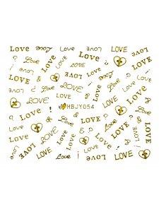 Наклейки для ногтей (стикеры) Nail Art Stickers 054 Gold