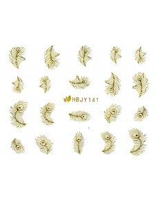 Наклейки для ногтей (стикеры) Nail Art Stickers 141 Gold
