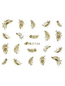 Наклейки для ногтей (стикеры) Nail Art Stickers 144 Gold