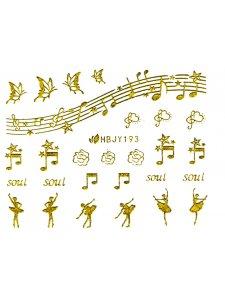 Наклейки для ногтей (стикеры) Nail Art Stickers 193 Gold