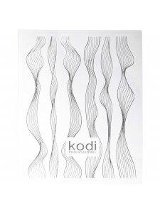 Наклейка для 3D дизайна ногтей (цвет: серебро)