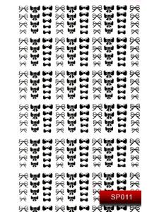 Наклейки для ногтей (стикеры) Nail Art Stickers SP 011 (черный)