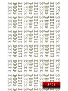 Наклейки для ногтей (стикеры) Nail Art Stickers SP 011 (серебро)