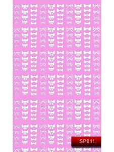 Наклейки для ногтей (стикеры) Nail Art Stickers SP 011 (белый)
