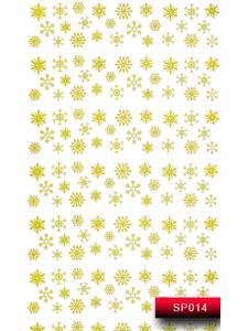 Наклейки для ногтей (стикеры) Nail Art Stickers SP 014 (золото)