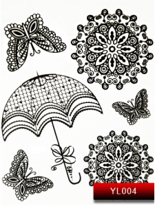 Фото - Наклейки для ногтей (стикеры) Nail Art Stickers YL 004 (черный) от KODI PROFESSIONAL