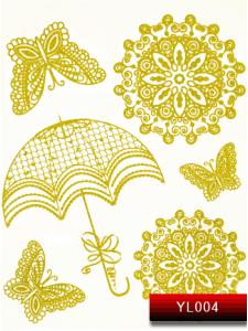 Фото - Наклейки для ногтей (стикеры) Nail Art Stickers YL 004 (золото) от KODI PROFESSIONAL