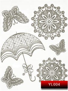 Фото - Наклейки для ногтей (стикеры) Nail Art Stickers YL 004 (серебро) от KODI PROFESSIONAL
