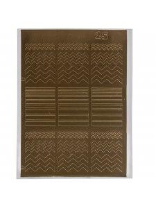 Металлизированная наклейка №25
