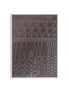 Металлизированная наклейка №66