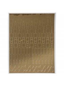Металлизированная наклейка №67