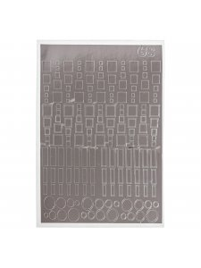 Металлизированная наклейка №68