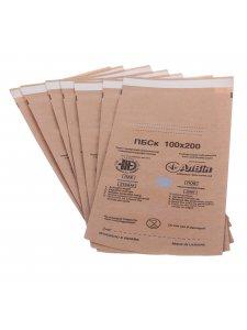 Пакеты самоклеющиеся для паровой и воздушной стерилизации 100х200мм (1уп/100шт; крафт)