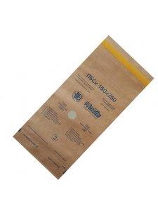 Пакеты самоклеющиеся для паровой и воздушной стерилизации 75х150мм (1уп/100шт; крафт)