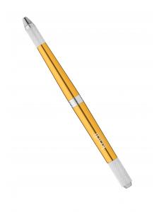 Ручка для мануального татуажа в футляре (цвет: золотой)